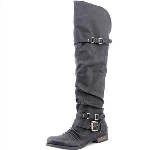 Carlos Santana Whitney Over Knee High Tall Boots